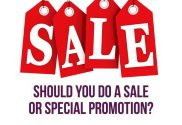 Should you do a sale / special promotion?